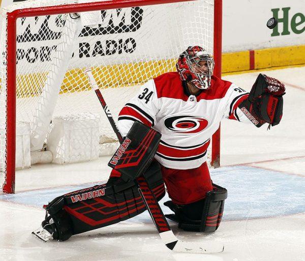 Buttendz SENTRY Goalie Grip for hockey stick white with red details, Petr Mrazek - Hurricanes