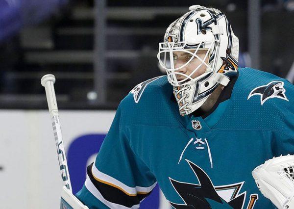 Buttendz SENTRY Goalie Grip for hockeykølle hvit med svarte detaljer, Martin Jones - Sharks