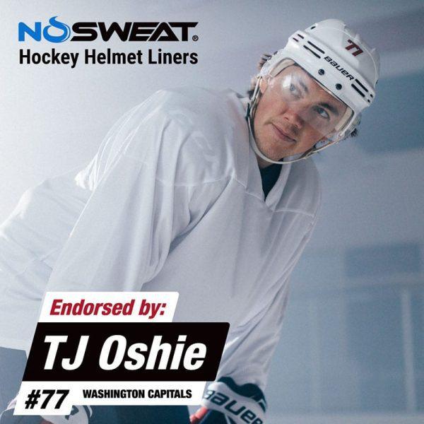 NoSweat hjelminnlegg for hockey TJ Oshie