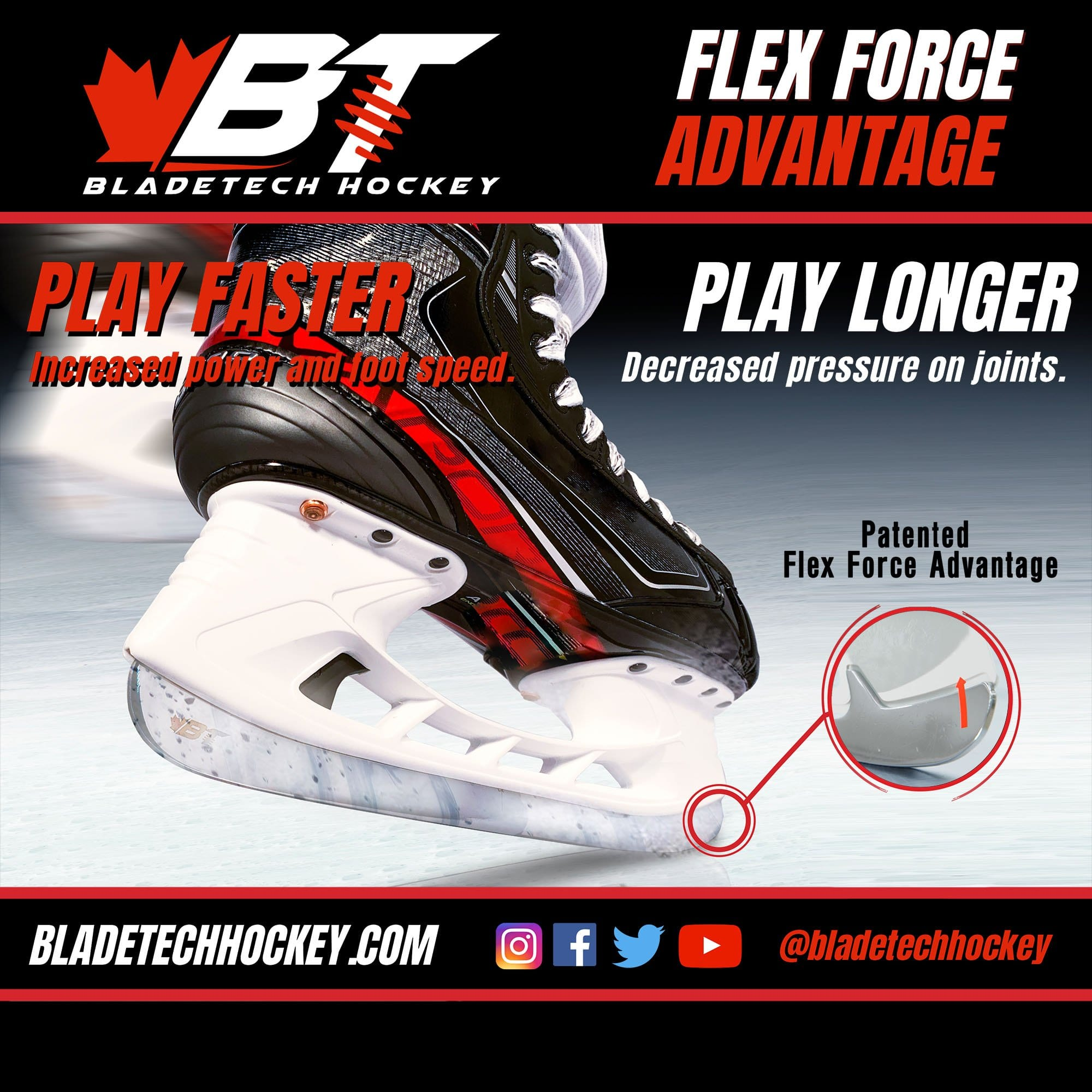 Bladetech Black Diamond DLC Ice hockey skate blades
